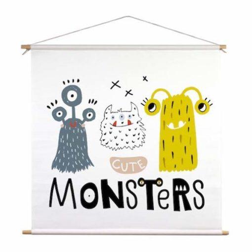 textielposter kinderkamer monsters