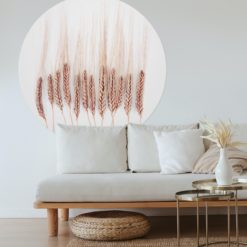 wallpaper circle living room