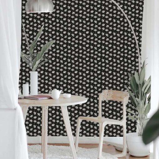 behang zwart wit
