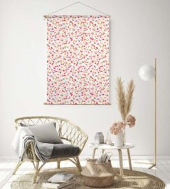 textielposter woonkamer