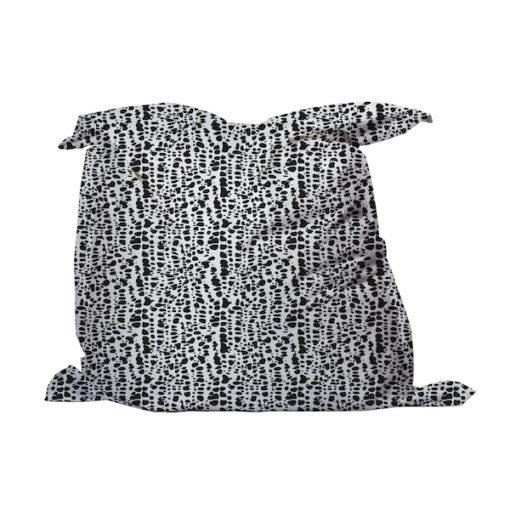 Zitzak naturel print zwart wit