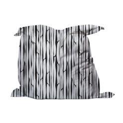 zitzak bamboe print zwart wit