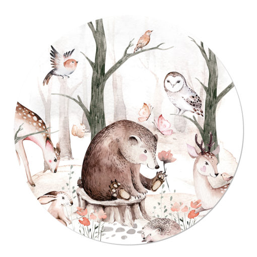 Hippe kinderkamer Muurcirkel dieren