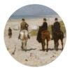Muurcirkel paarden op het strand