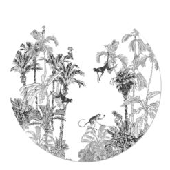 Circle with monkeys in trees