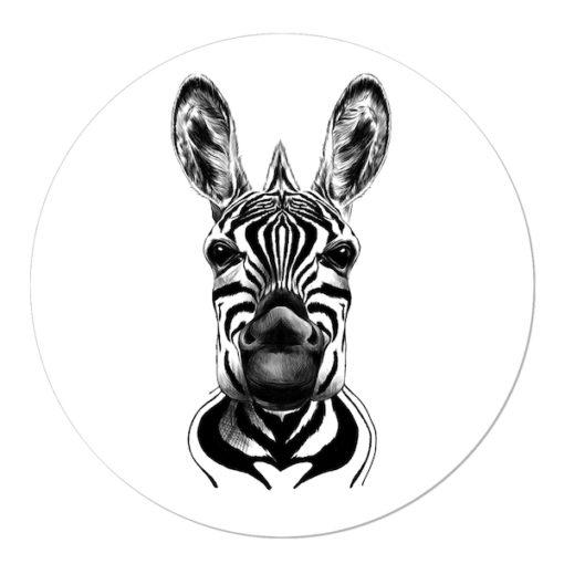 Wanddecoratie met zebra