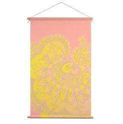 Textielposter Bloem geel