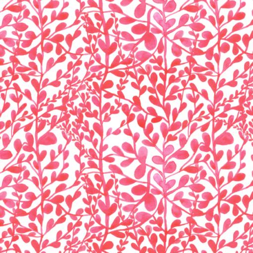 Print bladeren roze