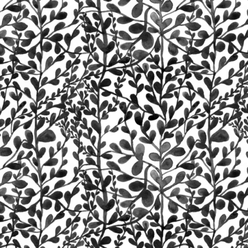 Print bladeren zwart