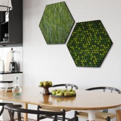 Hexagon natuur groen