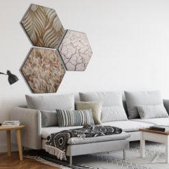 Hexagon Sfeerfoto Aarde tinten