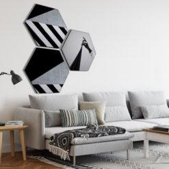 Hexagon Sfeerfoto zwart wit