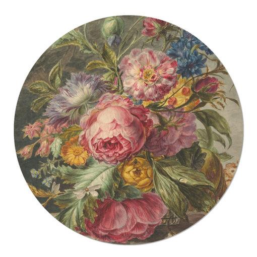 Muurcirkel Stilleven met Bloemen Jan Evert Morel