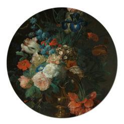 Muurcirkel Stilleven met Bloemen