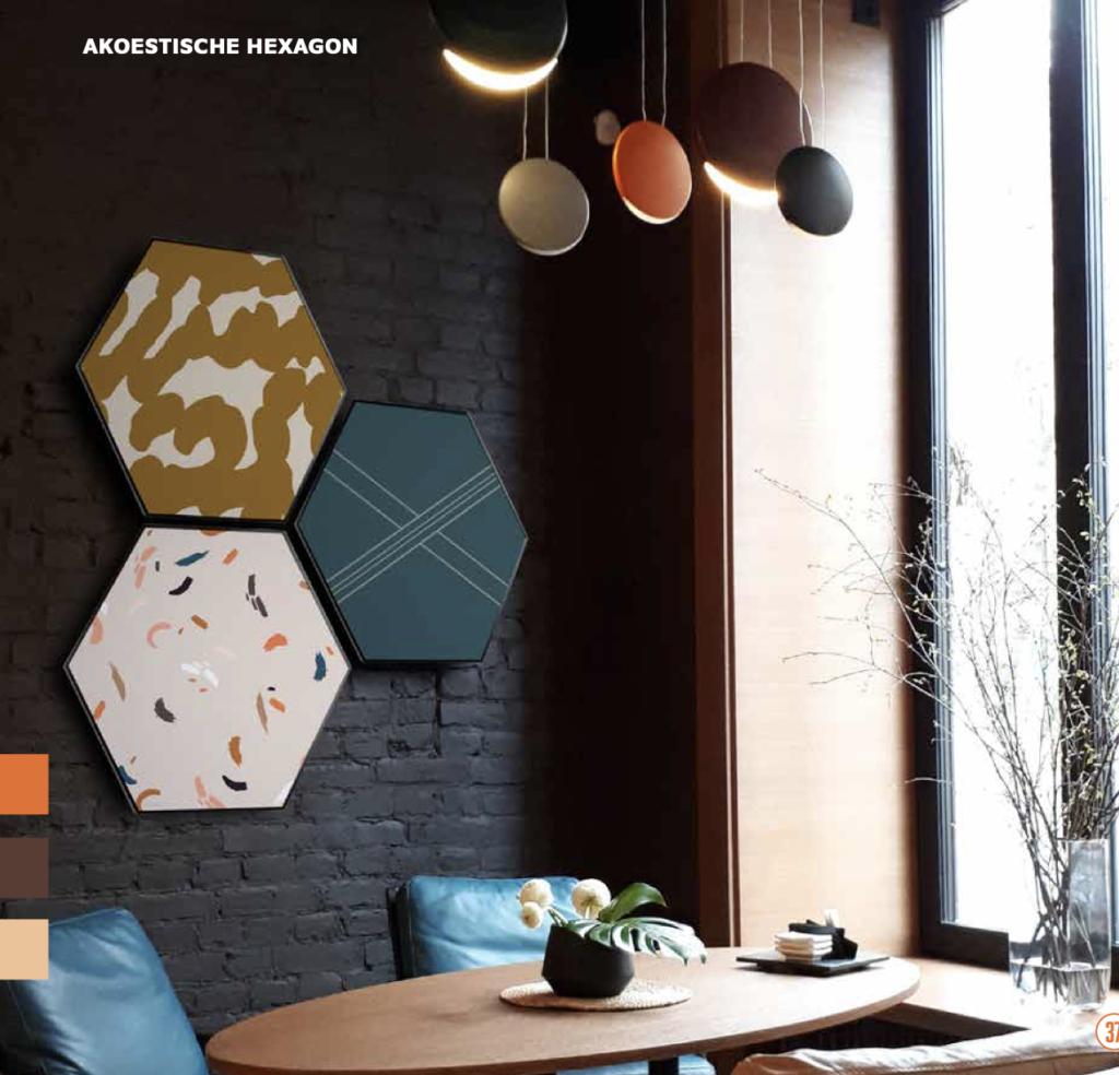 Hexagon with print