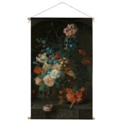 Wandkleed Stilleven met Bloemen Roepel