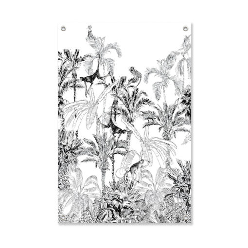 Tuinposter Aapjes in de Jungle