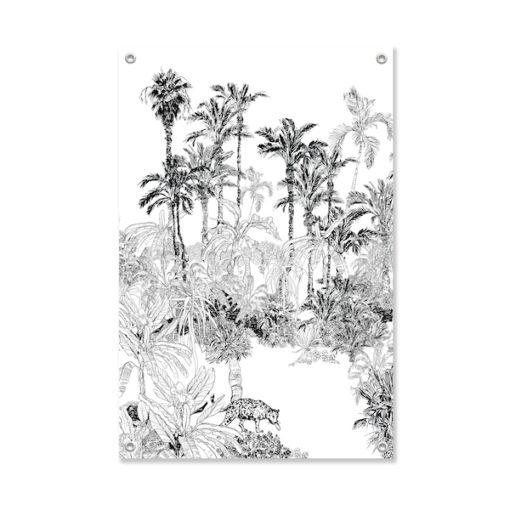 Tuinposter Luipaard in de Jungle