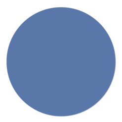 Muurcirkel effen van kleur blauw