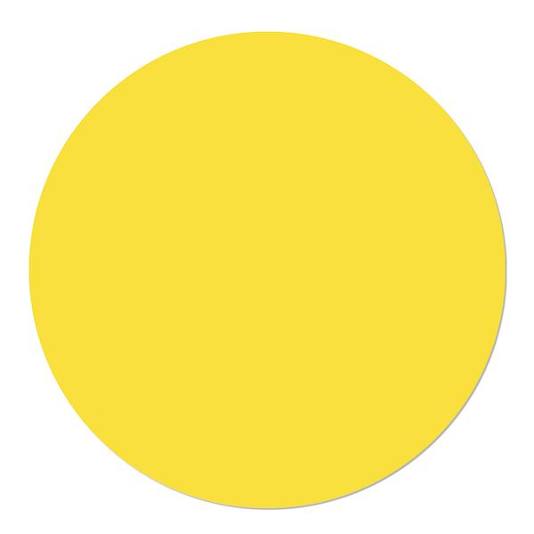 Muurcirkel effen van kleur geel