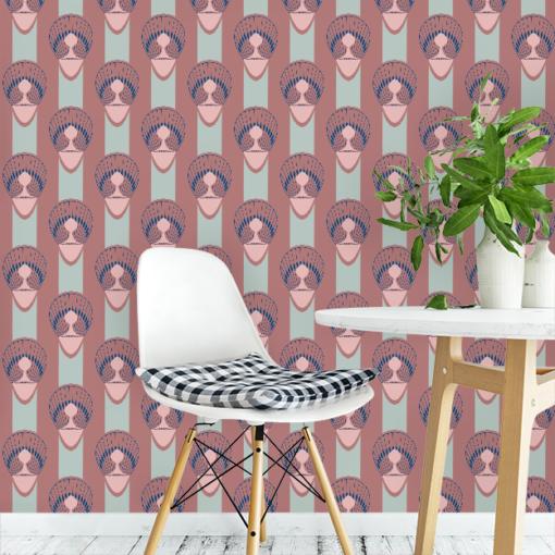 Behang op maat peau patroon