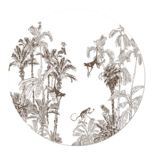 muurcirkel Jungle bruin