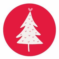 muurcirkel rood kerstboom
