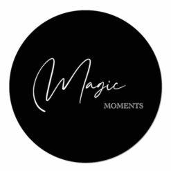 muurcirkel magic moments zwart