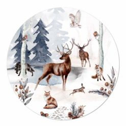 muurcirkel kerst herten bos