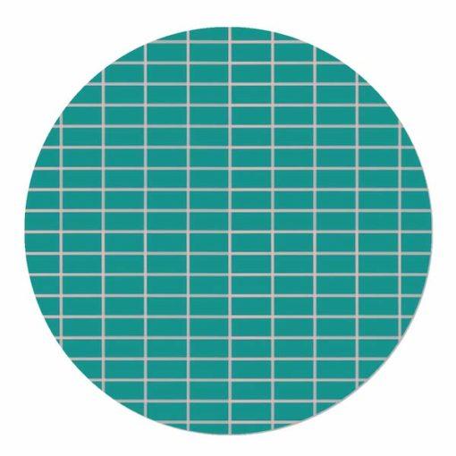 muurcirkel groen blauw geblokt