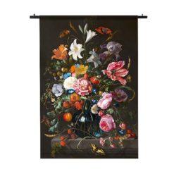 wandkleed tulpen en rozen